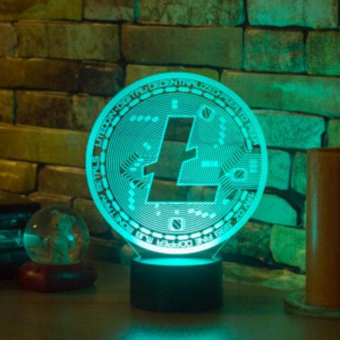3D ночник LiteCoin (Лайткоин)