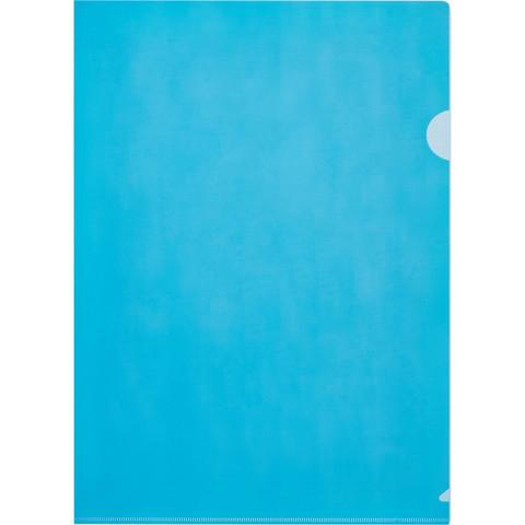 Папка-уголок Attache Economy A4 синяя 100 мкм (10 штук в упаковке)