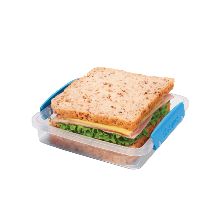 "Контейнер для сэндвичей Sistema ""TO GO"" 450 мл, цвет Голубой"