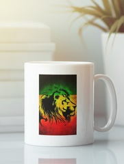 Кружка с рисунком Боб Марли (Bob Marley) белая 0010