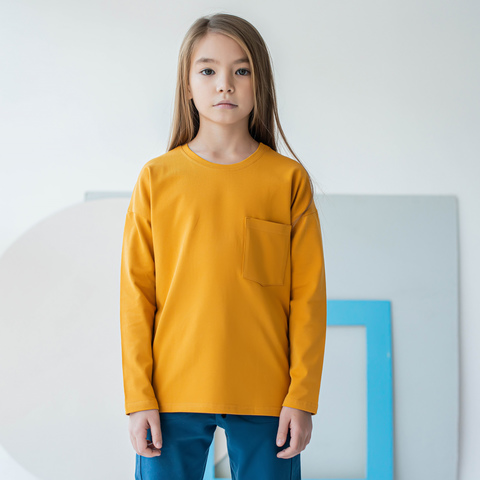 Long-sleeved T-shirt for teens - Mustard