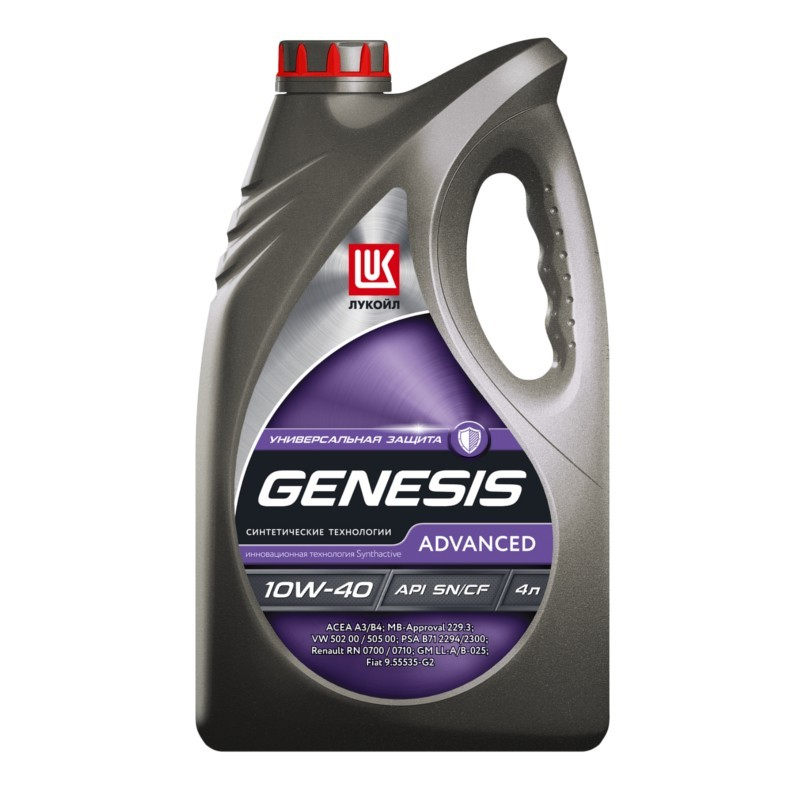 Лукойл Genesis Advanced 10W-40 - Полусинтетическое моторное масло