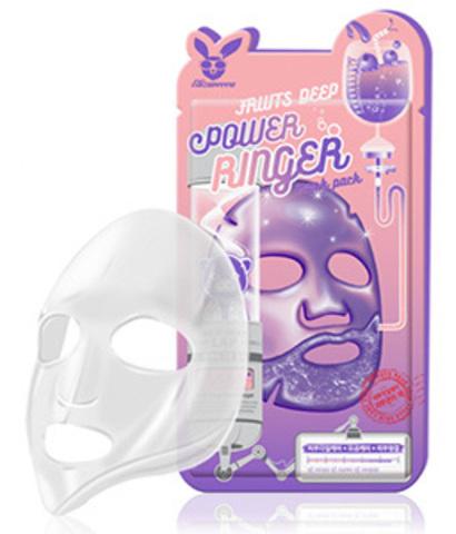 Тонизирующая фруктовая тканевая маска для лица Elizavecca Fruits Deep Power Ringer Mask Pack