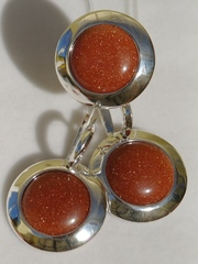 Лирета (кольцо + серьги из серебра)