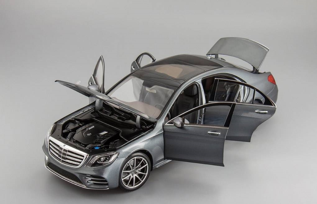 Коллекционная модель Mercedes-Benz W222 S-class Facelift 2017 Grey Metallic
