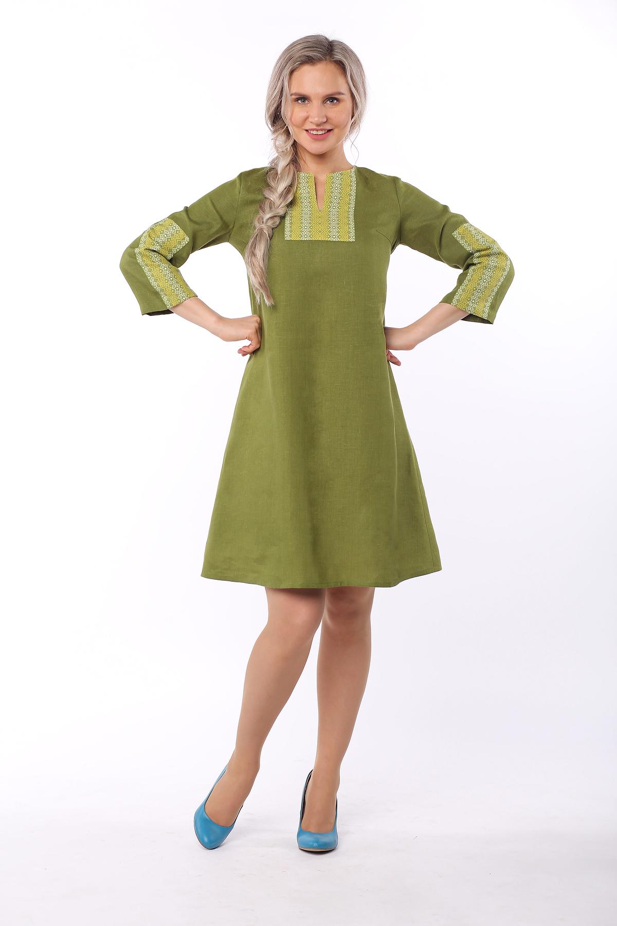 Платье льняное Розмарин