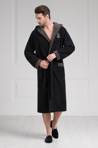Мужской бамбуковый халат с капюшоном 11008-7 Laete