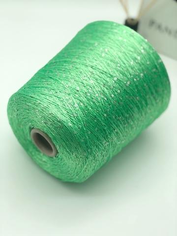 Вискоза с  пайетками PAILLETTES 800 неоновый зеленый
