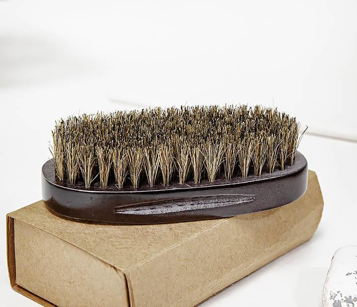 CARE150-1 Деревянная щетка для бороды в коробке фото 06