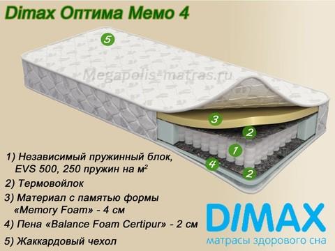 Матрас Димакс Оптима Мемо 4 от Мегаполис-матрас