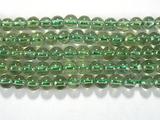 Нить бусин из апатита зеленого, шар гладкий 4мм