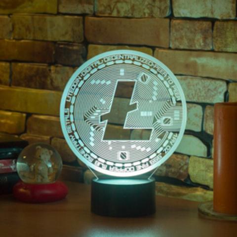 3D лампа LiteCoin (Лайткоин)