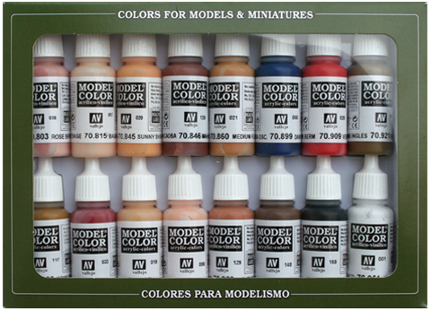 Model Color Face & Skin Tones (16) 17 ml.