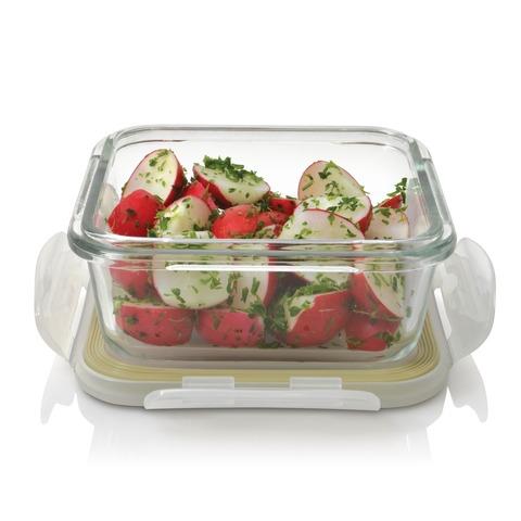 Пищевой контейнер прямоугольный - маленький (12,5*12,5*5,5см 0,33л)