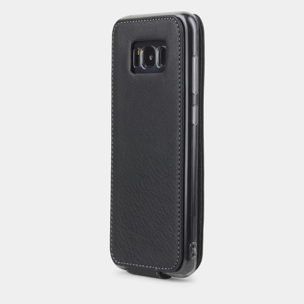 Чехол для Samsung Galaxy S8 из натуральной кожи теленка, черного цвета