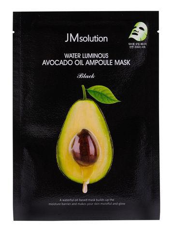 Питательная Тканевая Маска С Экстрактом Авокадо JM SOLUTION Water Luminous Avocado Oil Ampoule Mask Black