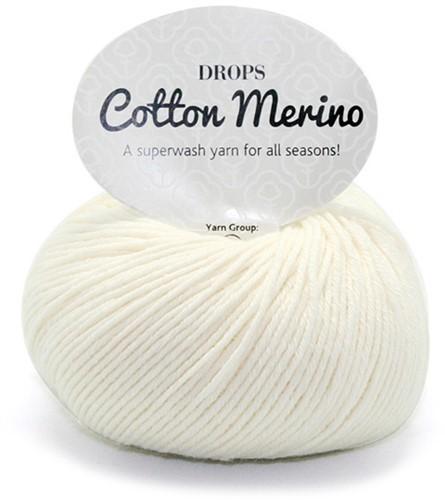 Пряжа Drops Cotton Merino 01 натуральный