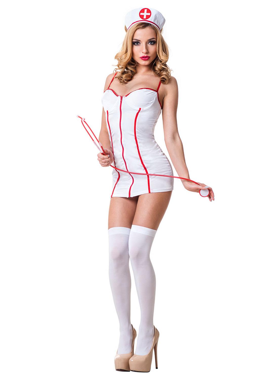 Белый костюм медсестры для эротических игр