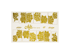 Фольга для дизайна ногтей цвет золото 47