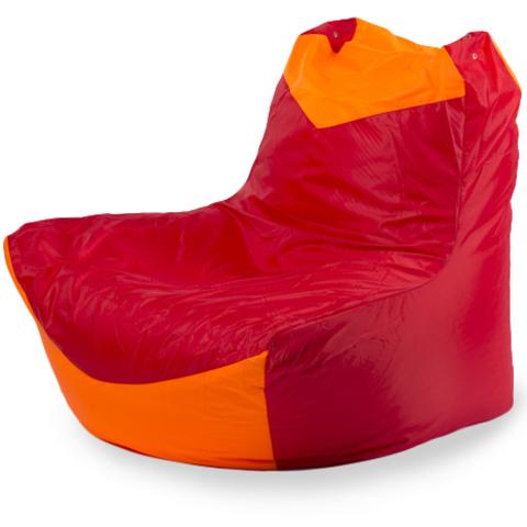 Бескаркасное кресло «Классическое», Красный и оранжевый