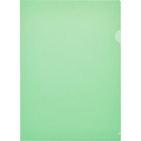 Папка-уголок Attache Economy A4 зеленая 100 мкм (10 штук в упаковке)