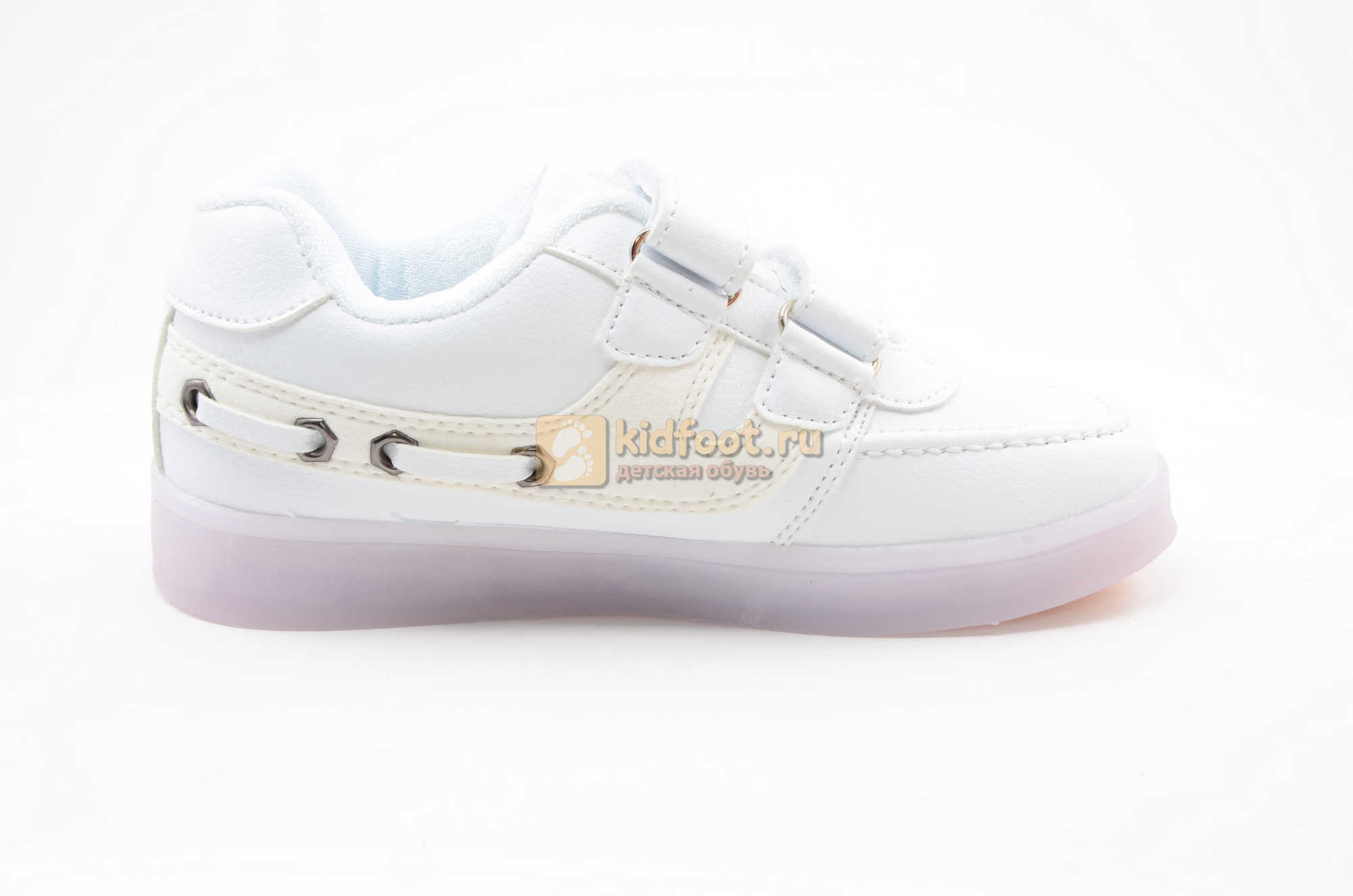Светящиеся кроссовки с USB зарядкой Бебексия (BEIBEIXIA) для девочек цвет белый