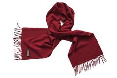 Шерстяной шарф, мужской бордовый 16701