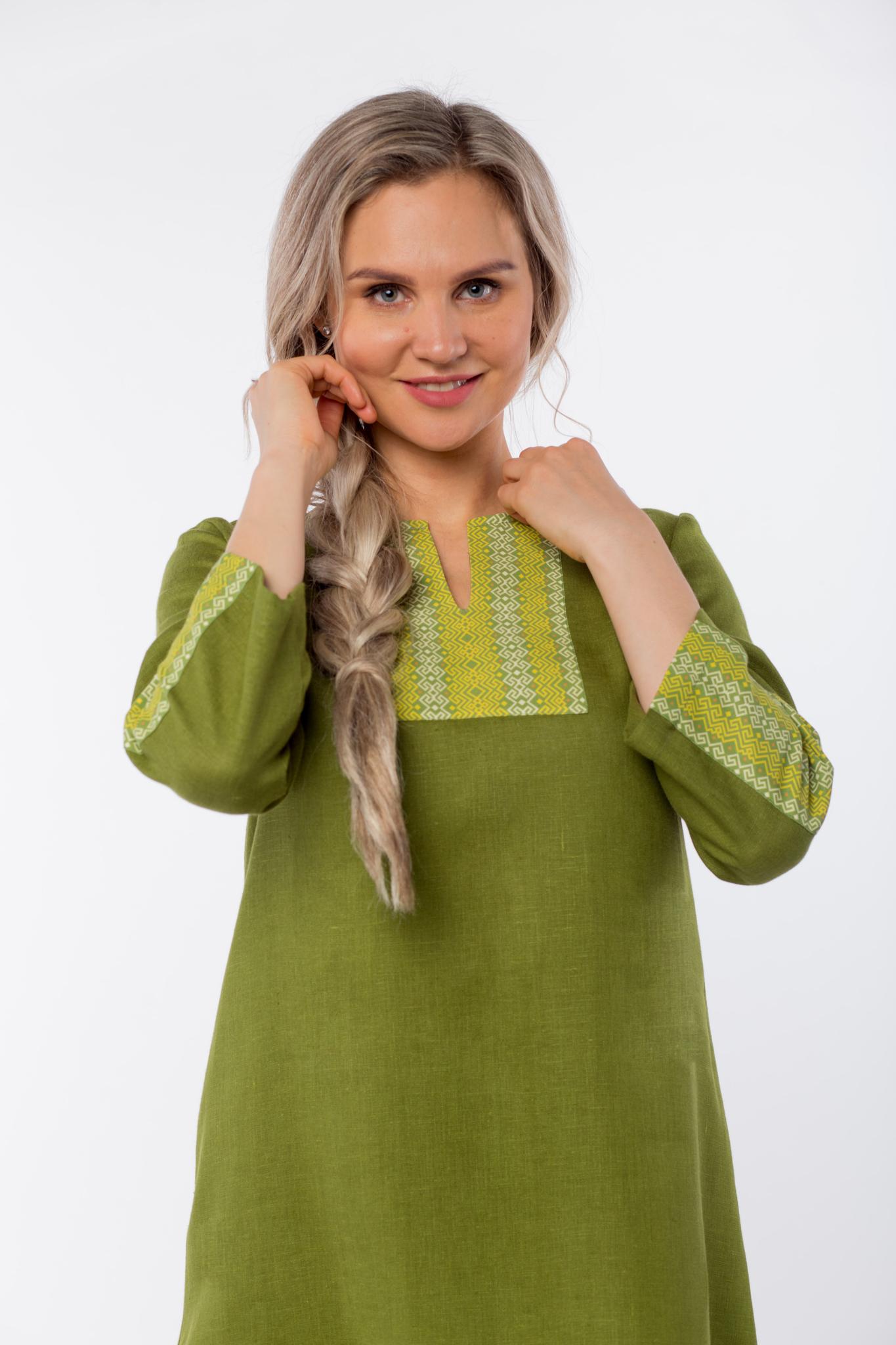 Платье льняное Розмарин приближенный фрагмент
