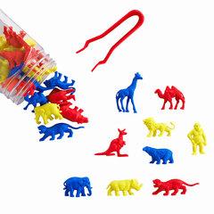 Счетный материал фигурки Дикие животные (контейнер), Edx education 13021J