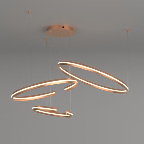 Светодиодная люстра с управлением по Wi-Fi 90280/3 золото