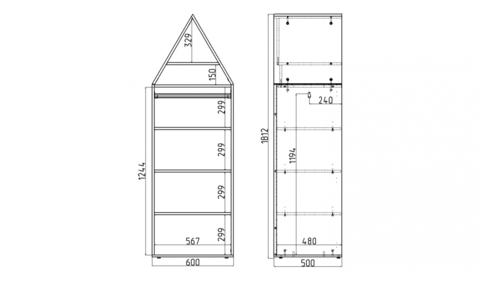 Шкаф-домик Амстердам - 3 (Н)