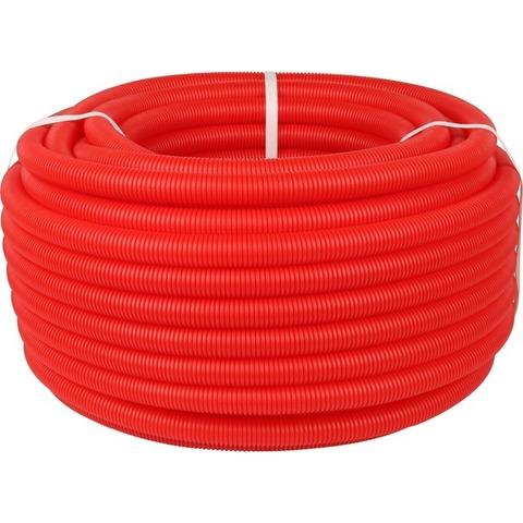 Stout гофрированная труба 40 мм красная (для труб 25-32) в бухтах 50 метров (SPG-0002-504032) - 1 м