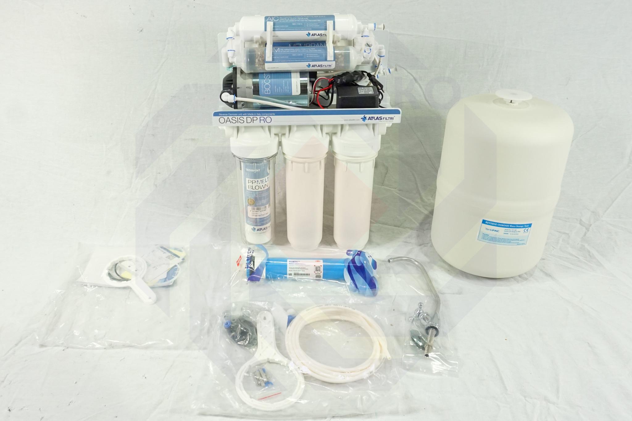 Система фильтрации с мембраной обратного осмоса ATLAS OASIS DP PUMP