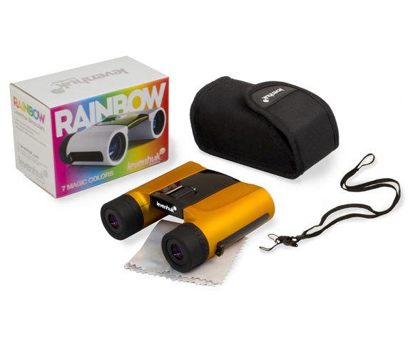 Комплект поставки бинокля Rainbow 8 25, оранжевый цвет