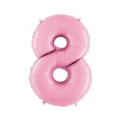 Г Цифра, 8, Розовый (Pink), 40''/102 см, 1 шт.