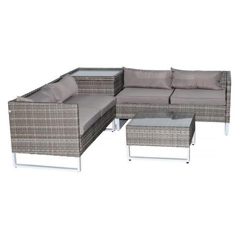 Комплект для отдыха: кофейный стол + стол (место для хранения) + 2 дивана, LUC-W180713C