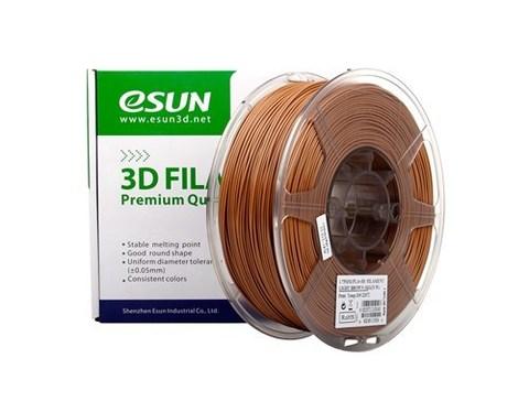 ESUN PLA+ 1.75 мм 1кг., светлокоричневый