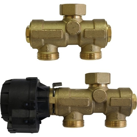 Stout комплект трёхходового клапана с электрическим приводом и датчиком температуры SFB-0001-000001