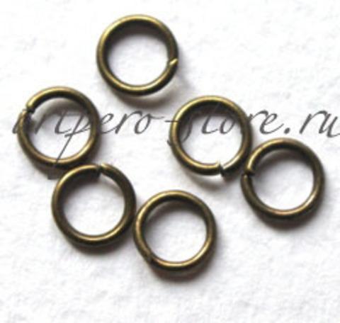 Соединительное кольцо 6 мм., под антик