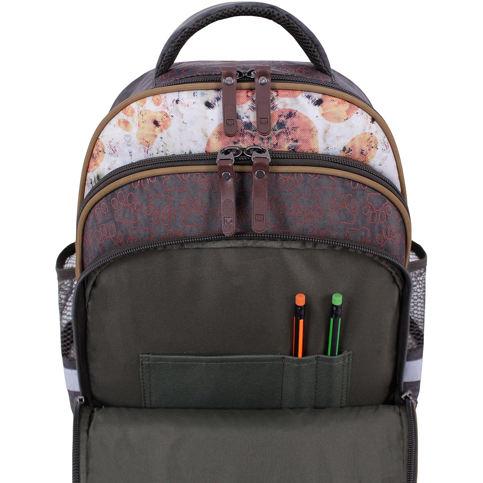 Рюкзак школьный Bagland Mouse 327 хаки 513 (0051370) фото 6
