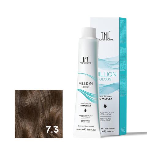Крем-краска для волос TNL Million Gloss оттенок 7.3 Блонд золотистый 100 мл