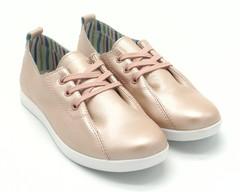 Кеды розовые на шнуровке
