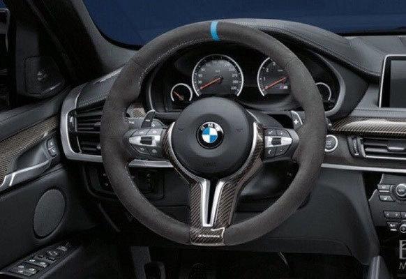 Карбоновая вставка в М Performance руль для BMW X5 F15