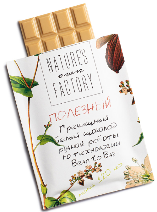 Nature's Own Factory шоколад Белый 20г