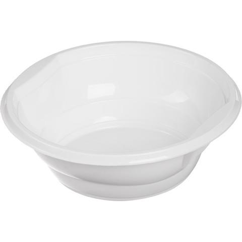 Миска одноразовая пластиковая Стандарт 600 мл белая (50 штук в упаковке)