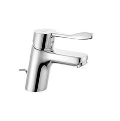 Смеситель для раковины однорычажный c донным клапаном Kludi Pure&Easy 372840565 фото