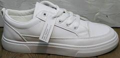 Городские кроссовки туфли женские кожаные El Passo 820 All White.