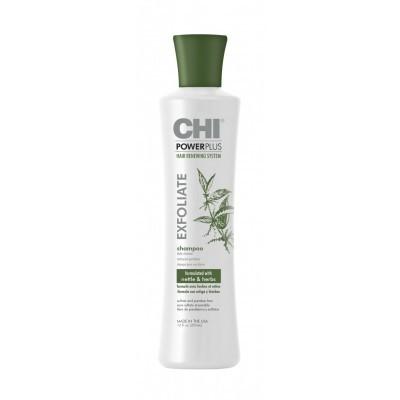 CHI Power Plus: Отшелушивающий шампунь для волос, 355мл