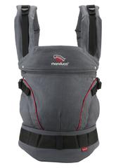 Слинг-рюкзак manduca First grey/red (серый/красный)