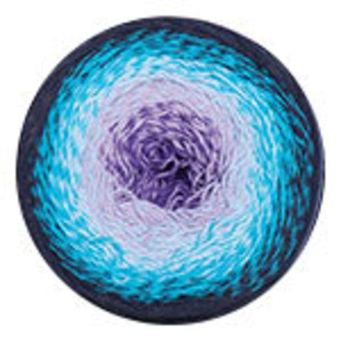 YarnArt Flowers 254 фиолет/бирюза/т.синий